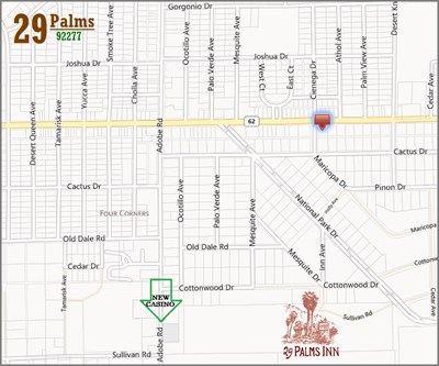 Twentynine Palms California Map.29 Palms Highway 62 Commercial Property Land Twentynine Palms